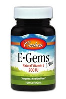 Carlson E-Gems Plus 200IU 100 Soft Gel