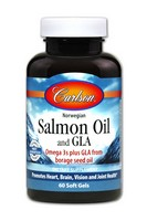 Carlson Norw Sal Oil w/GLA 60 Soft Gel