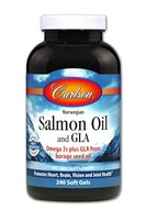Carlson, Norwegian Salmon Oil and GLA, 240 Softgels