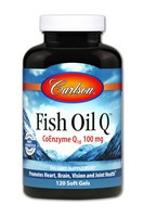 Carlson Labs - Fish Oil Q, CoEnzyme Q10, 100 mg, 120 Soft Gels