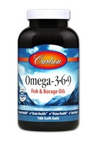 Carlson Omega-3 plus GLA 180 count