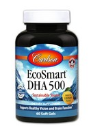 Carlson Labs Ecosmart DHA 500 Mg Mineral Supplement Softgels, 60 Count