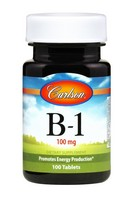 Carlson Labs Vitamin B-1, 100mg, 100 Tablets
