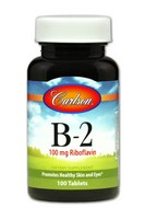 Carlson Vitamin B-2 100mg 100 Tablets