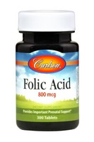 Carlson Folic Acid 800 mcg 300 Tablets