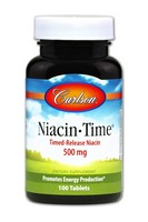 Carlson Niacin-Time 500mg 100 Tablets