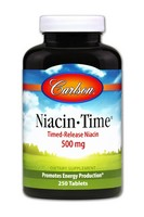 Carlson Niacin-Time 500mg 250 Tablets
