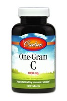 Carlson One-Gram C 1000mg 100 Tablets