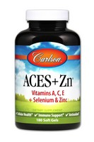 Carlson Labs ACES + Zn Antioxidants, 180 Softgels