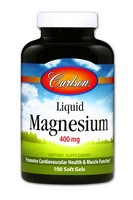 Carlson Labs Liquid Magnesium, 400mg, 100 Softgels