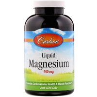 Carlson Labs - Liquid Magnesium, 400 mg, 250 Soft Gels