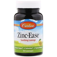 Carlson Labs Zinc Ease Tasty Lozenges, 10mg, 42 Lozenges