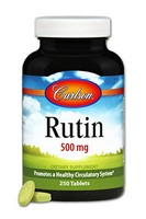 Carlson Labs - Rutin, 500 mg, 250 Tablets