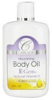 Carlson E-Gem Oil Drops 4oz Bottle