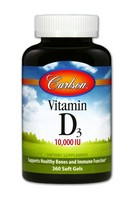 Carlson Labs Vitamin D 10,000 Iu, 360 Count