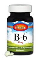 Carlson Vitamin B-6 50mg 200 Tablets