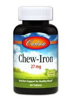 Chew Iron Carlson Laboratories 60 Tabs