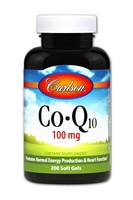 Carlson Co-Q-10 100mg 200sz Soft Gels