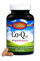 Carlson Co-Q-10 200mg 120sz  Soft Gels