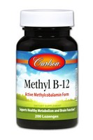 Carlson Methyl B-12 200 Tablets