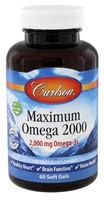 Carlson Maximum Omega 2000 60 Soft Gels