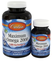 Carlson Maximum Omega 2000 90+30 Soft Gels