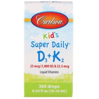 Carlson Kid's Super Daily D3 + K2 360 Drops