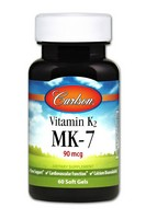 Carlson Vitamin K2 as MK-7 90 mcg 60 Soft Gels