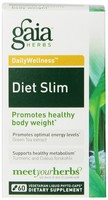 Gaia Herbs Daily Wellness Diet Slim 60 Liquid Capsules