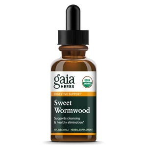 Gaia Herbs - Certified Organic Sweet Wormwood, 1 fl oz (30 ml)