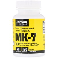Jarrow Formulas - MK-7, Vitamin K2 as MK-7, 90 mcg, 120 Softgels