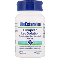 Life Extension European Leg Solution featuring Certified Diosmin 95 600 mg, 30 vegetarian tablets