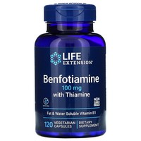 Life Extension, BENFOTIAMINE WITH THIAMINE 100MG 120 CAPSULES