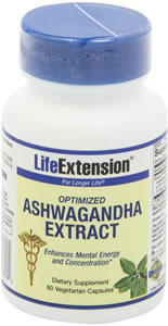 Life Extension, SENSORIL - ASHWAGANDHA 60 CNT CAPS