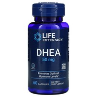 Life Extension, DHEA (DEHYDROEPIANDROSTERONE) 50 MG, 60 CAPSULES