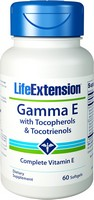 Life Extension Gamma E Tocopherol/Tocotrienols | 60 softgels