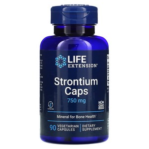 Life Extension - Strontium Caps, Mineral for Bone Health, 750 mg, 90 Veggie Caps