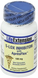 Life Extension - 5-Lox Inhibitor, with ApresFlex, 100 mg, 60 Veggie Caps