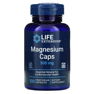 Life Extension MAGNESIUM 100 500 MG VEGETARIAN CAPSULES