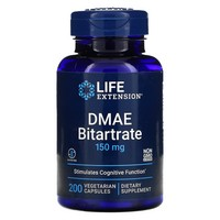 Life Extension - DMAE Bitartrate, 150 mg, 200 Veggie Caps