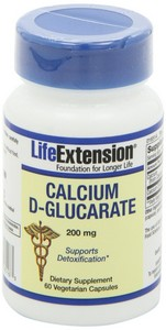 Life Extension - Calcium D-Glucarate, 200 mg, 60 Veggie Caps