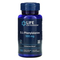 Life Extension DL PHENYALANINE 500 MG 100 VEGETARIAN CAPSULES