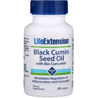 Life Extension BLACK CUMIN SEED OIL W/BIO CURCUMIN 60 Softgels