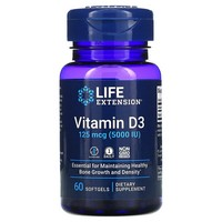 Life Extension VITAMIN D 3 5000 IU 60 CAPSULES