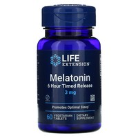 Life Extension MELATONIN TIME RELEASED 3MG 60 VEGTETARIAN TABLETS