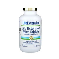 Life Extensioln Mix with Extra Niacin 240 Tablets