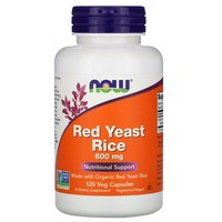 Now Foods - Red Yeast Rice, 600 mg, 120 Veggie Caps