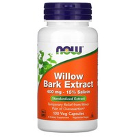 Now Foods - White Willow Bark, 400 mg, 100 Capsules