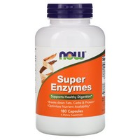 Now Foods - Super Enzymes, 180 Capsules