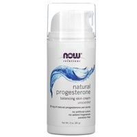 Now Foods - Solutions, Natural Progesterone, Liposomal Skin Cream, Scent Free, 3 oz (85 g)